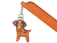 Jack russell terrier Leather dog Charm Bookmarker *Vanca* Made in Japan #61736
