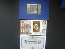GB Full gold QEII Sovereign on a QEII the Queen mother Benham stamp cover