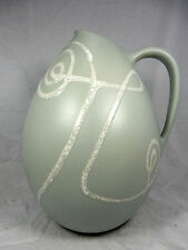"Well shaped  50´s design Schlossberg Keramik pottery  vase 218 / 32 "" Tornado """