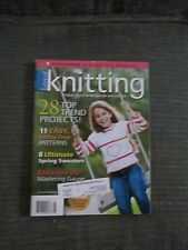 Love Of Knitting Spring Sweaters Mastering Gauge and More Spring 2012