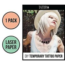 Tattify DIY Temporary Tattoo Paper 1 Pack For Laser Printers, Printable Long Las