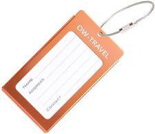 ✅ titular de la tarjeta de negocios de etiqueta de equipaje para Maletas Mochilas-Travel Gift Naranja