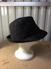 Black Pinstripe Short Brim Fedora Michael Jackson This Is It Hat Thriller Club