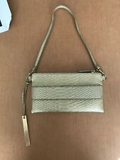 DEVI KROELL for Target METALLIC GOLD Faux Snakeskin Clutch/Hand Bag Size XS