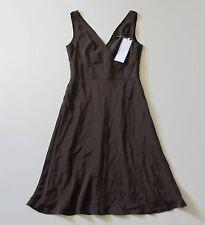 NWT J.Crew Petite Sophia in Espresso Dark Brown Silk Tricotine Dress P4 4P