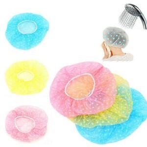 1/3/6pc Elastic Waterproof Shower Cap Hat Bath Head Hair Cover Salon Shower UK
