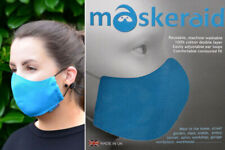 Maskeraid® Turquoise Canvas Fabric Face Mask Mouth Nose Reusable Machine Wash