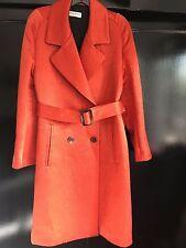 Dries Van Noten Coat, Tangerine orange, Wool blend, Size 38 (FR)