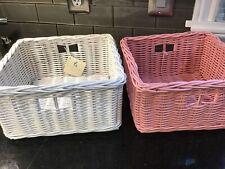 2 Pottery Barn Kids Sabrina Baskets, No Liners One Pink One White Medium
