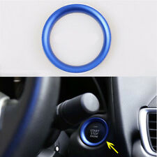 BLUE ENGINE START PUSH BUTTON RING TRIM FOR MAZDA 3 AXELA CX-3  2014-2018