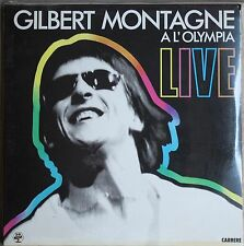 GILBERT MONTAGNE A L'OLYMPIA LIVE  33T  2LP