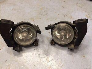 2006-2008 Subaru Forester Fog Lights Fog Lamps Pair Set OEM
