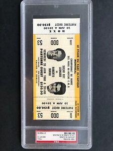 1980 Boxing Sugar Ray Leonard vs Roberto Duran Full Ticket Gem Mint PSA 10 RARE!
