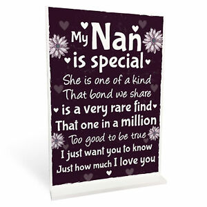 Nan Christmas Birthday Gifts For Grandparents Standing Plaques Thank You Gifts