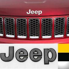 1x Black 3D JEEP Hood Trunk Tailgate Emblem Logo Stickers Badge (Fits: Jeep)