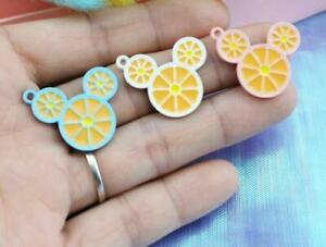 new 60pcs lemon mickey head Metal Charms DIY necklace Jewelry Making Pendants