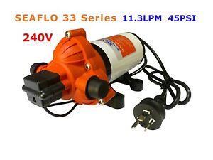 SEAFLO 240V water pressure pump 11.3LPM 45PSI For Caravan Boat AU