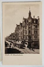 26531 Foto AK Straßenbahn Fürth i. B. Schwabacherstraße Feldpost 1940