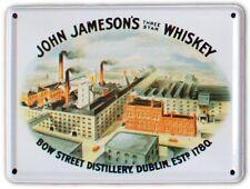 JAMESONS IRISH WHISKEY DISTILLERY Small Metal Tin Pub Sign