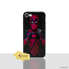 "Marvel Case/Cover For Apple iPhone 7 (4.7"") / 3D Silicone Gel / Deadpool - Heart"