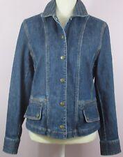 ~NEW~ Jones New York Sport Size SMALL Blue Denim Jacket Snap Front Stretch