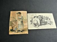 Victorian Ephemera Set of (2) Trade Card- Teas & Coffees, New Jersey and Boston.