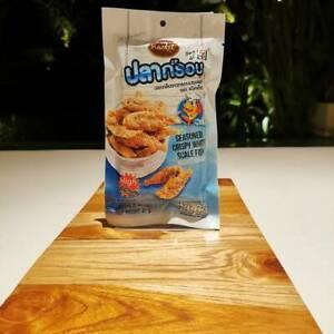 Best Crispy White Scale Fish Thai Snack Seasoned Yummy High Calcium Fried Chili