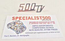 SCRITTA COFANO MOTORE FIAT 500 GIANNINI 88x30mm