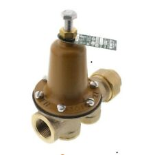 """New Watts Water Pressure Reducing Valve 25Aub-Z3 3/4"""" Brass Fpt x Fpt 50Psi."""