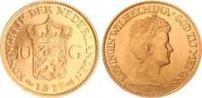 Niederlande 10 Gulden Gold 1917, Wilhelmina, prägefrisch (1)