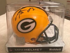 Aaron Rodgers Green Bay Packers Signed Mini Hemet Fanatics Authentics