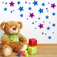 62 Mezcla Talla Estrellas Pegatinas De Pared Niños Adhesivo Guardería Dormitorio
