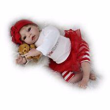 "22"" Baby Girl Dolls Lifelike Soft Vinyl Newborn Real Full Body Silicone Reborn A"