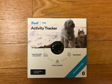 Poof Pea Activity Tracker, black, cat/dog, monitors sleep and activity, new