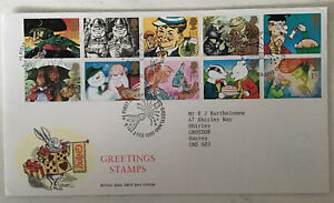GB QEII 1993 Greetings RMFDC Greetland SHS Typed Address