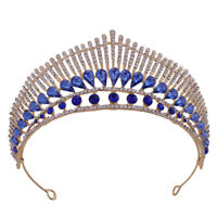 5.7cm High Crystal Large Wedding Bridal Party Pageant Prom Tiara Crown 6 Colours
