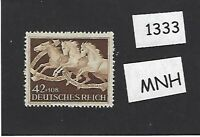 MNH stamp / 1942 Brown derby Horse race / Munich  / Third Reich era Germany