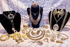 Vintage & Modern Goldtone Costume Jewelry Lot - Christian Dior, Trifari