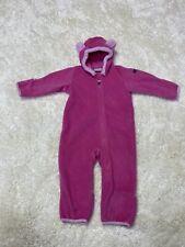 Columbia Infant Girls Fleece Suit Pink Size 12-18 Months Nwot