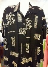 Dress Barn Women's Size XL Shirt - Black, Tan Collar  2 Shirt Look