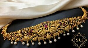 South Indian Waist Chain vaddanam Gold Plated Kamarbandh jewelry Hip waist belt