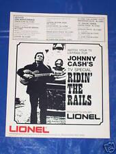 LIONEL TRAIN 1976 CATALOG advertising JOHNNY CASH TV Guitar Show O 027 Gauge Set