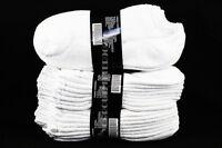 9-11 10-13 Athletic No Show Low Cut Ankle Cotton White Socks Men Women 4 12 PACK