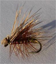 Elk Hare Caddis Olive Assortment; 1 Dozen Trout Fishing Files