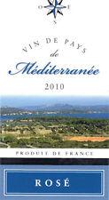 Etiquette de vin - Wine Label - Vin du Pays de Méditerranée - Rosé - 2010