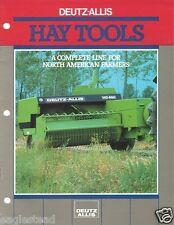 Farm Equipment Brochure - Deutz-Allis - Baler Rake Mower Hay Tools c1986 (F1918)