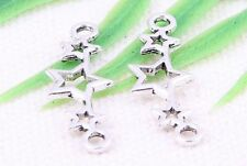 30pcs Tibetan Silver Star Connectors Jewelry Findings 25x8.5mm   (Lead-free)