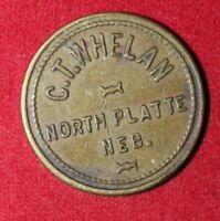 "19th Century C. T. Whelan ""Good for 5c in Trade"" Token - North Platte, Nebraska"