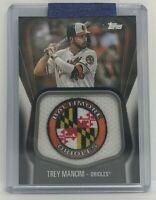 2020 Topps Series 1 Baseball Trey Mancini Orioles /149 Jumbo Jersey Sleeve Patch