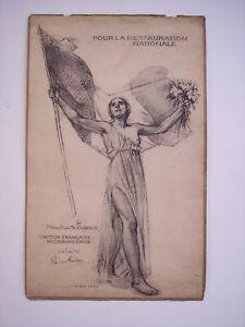 ACTION FRANÇAISE - POUR LA RESTAURATION NATIONALE attestato di riconoscenza 1929